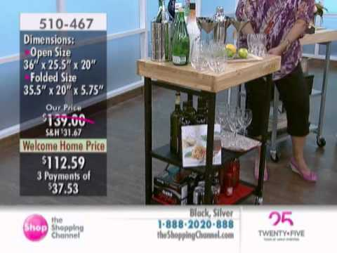 Origami Folding Kitchen Island Cart Outdoor With Fireplace At The Shopping Channel 510467