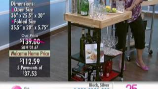 Origami Folding Kitchen Island/cart At The Shopping Channel 510467