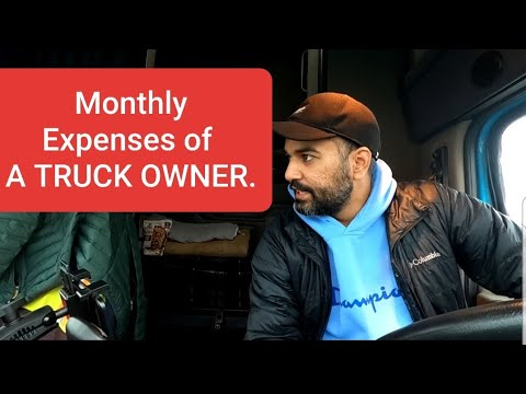 Monthly Expenses Of A Truck Owner Operator.