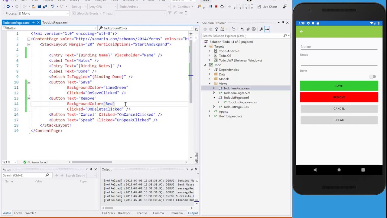 Public Preview of XAML Hot Reload for Xamarin Forms