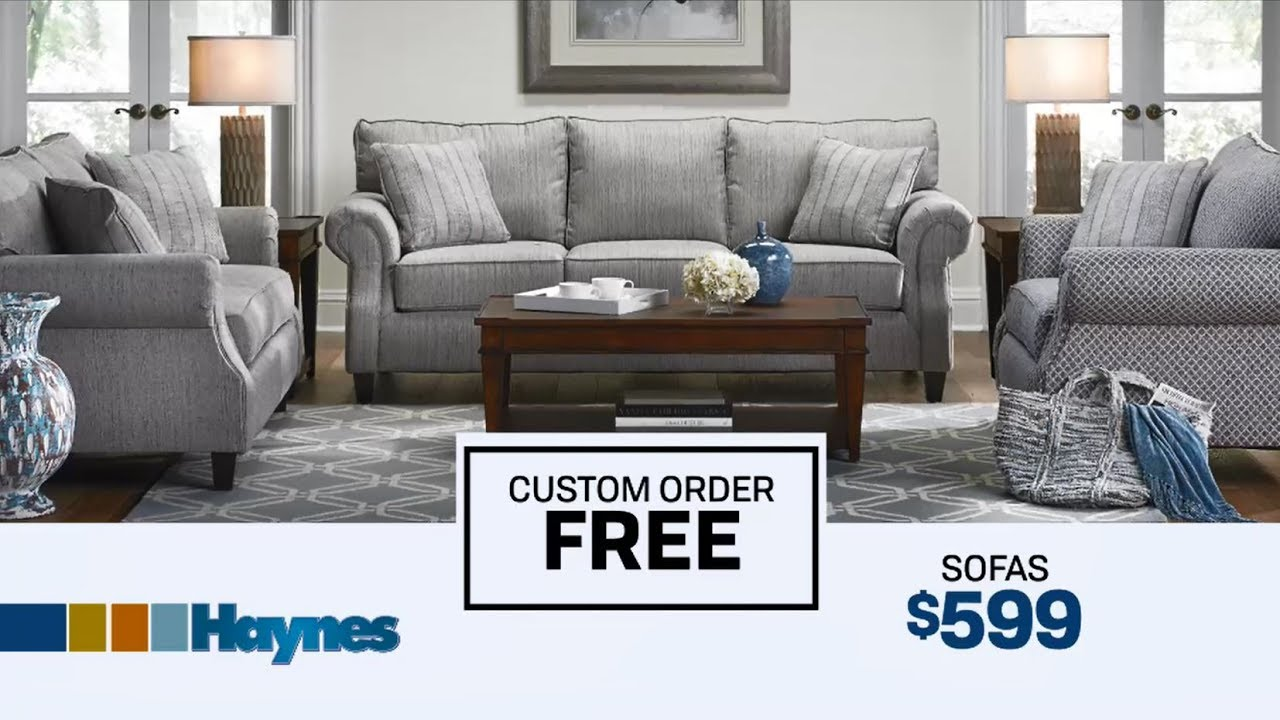 Free Custom Order Design At Haynes Furniture Youtube