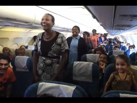 Waka Waka on Air Arabia flight