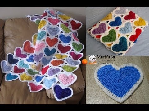 How To Crochet Heart Afghan Blanket Free Easy Pattern Tutorial For