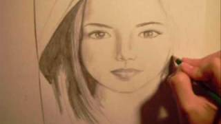 Drawing a Young Virgin Mary