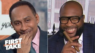 Stephen A. eats crow after his wrong LSU-Clemson prediction | First Take