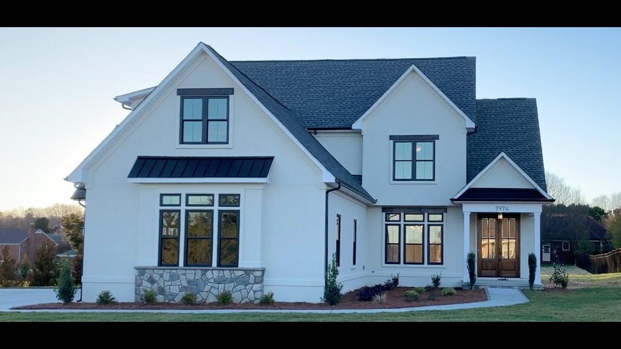 Stucco Modern Home in Charlotte NC   Harrisburg, NC   Charlotte Luxury  Homes PresPro Custom Homes