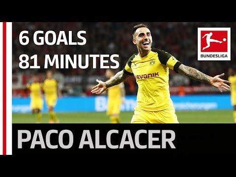 Record breaker Paco Alcacer - 6 goals in just 81 minutes