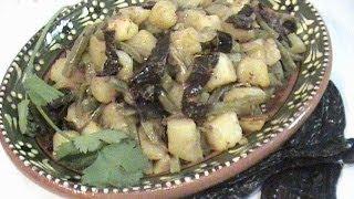 Receta De Papas Con Nopales Y Chile Negro Cocinandoconerika