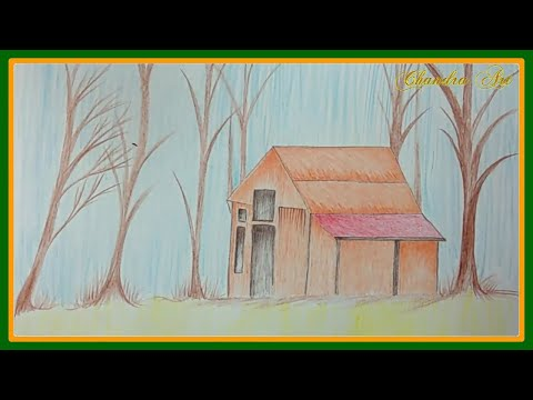 how to draw landscapes with colored pencils step by step for beginners