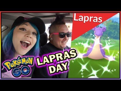 EXCLUSIVE SHINY LAPRAS DAY RAIDING IN POKÉMON GO!