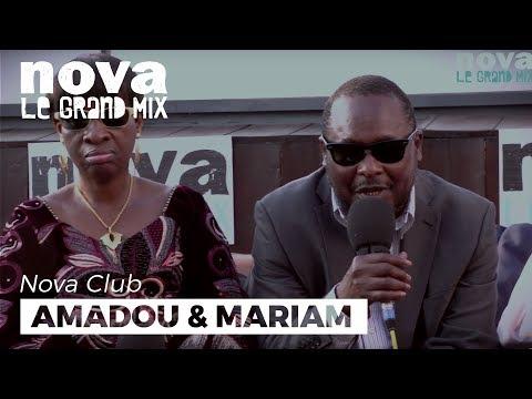 Amadou et Mariam dans le Nova Club en direct de Cannes