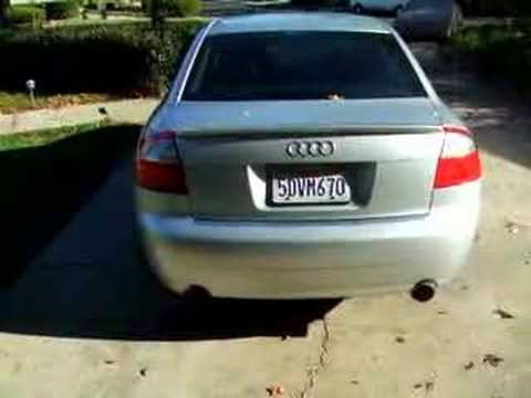 audi b6 2003 a4 with custom magnaflow exhaust youtube. Black Bedroom Furniture Sets. Home Design Ideas