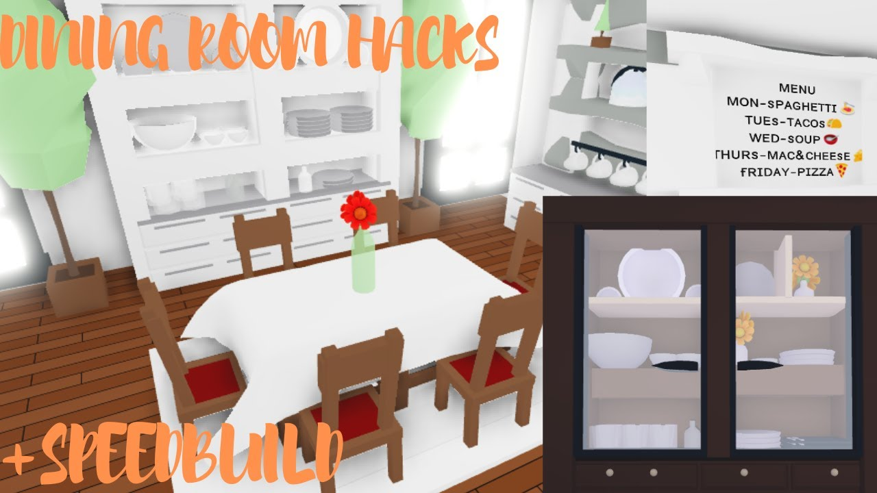 Dining Room Hacks Dining Room Speedbuild Roblox Adopt Me Youtube
