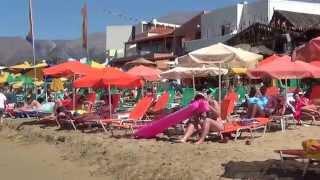 Крит. Курорт Малия. Пляж(Шикарный песчаный пляж критского курорта Малия в видеосюжете Александра Ратнера., 2015-08-26T10:40:06.000Z)