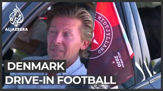 Denmark drive-in football matches attracts crowds