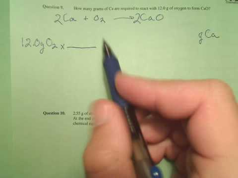 How Many Grams Of Ca Are Required To React With 12.0 G Of Oxygen To Form CaO?