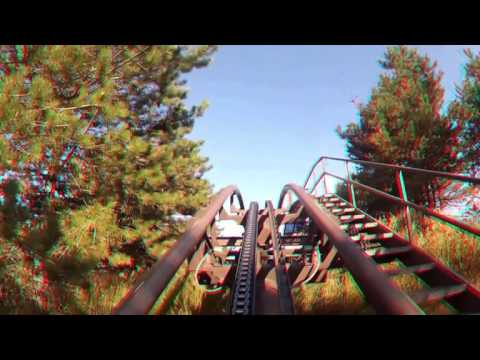Dragon Mountain anaglyph glasses Roller Coaster