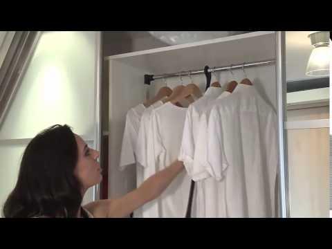 Пантограф (лифт для одежды) – неотъемлемая часть современных моделей шкафов-купе, предназначенная для размещения одежды в самом верху.