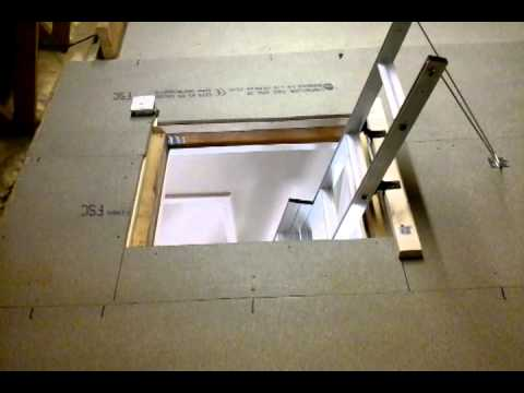 Aluminium Ladder Installation Loft Ladder Scotland Youtube