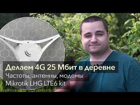 Всё о мобильном Интернет в деревне: антенны, модемы, сети, частоты. MikroTik LHG LTE6 Kit