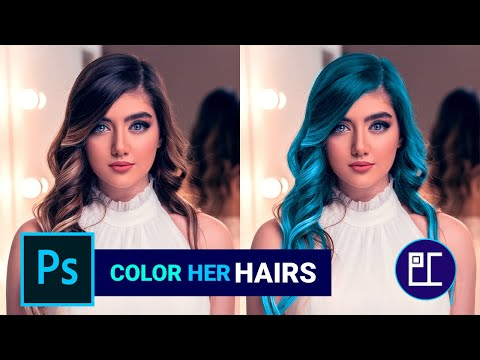 Repaint Her Hairs In Photoshop (Hindi)