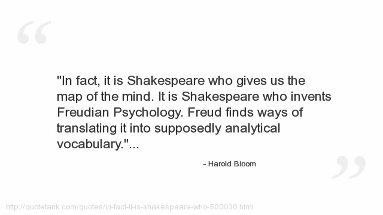 Bloom Quotes Unique Harold Bloom Quotes  Youtube