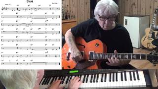 Diane - Jazz guitar & piano cover ( Erno Rapée )