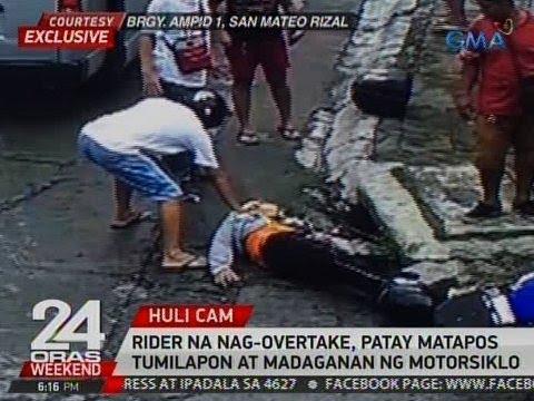 24 Oras: Rider na nag-overtake, patay matapos tumilapon at madaganan ng motorsiklo sa San Mateo