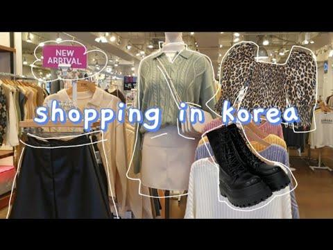 Shopping in Korea Vlog   Korean Street Fashion, Winter Sale 💸 + Haul