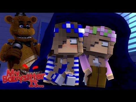 MY BABYSITTER IS...?! FREDDY FASBEAR!! w/Little Carly and Little Kelly (Minecraft).