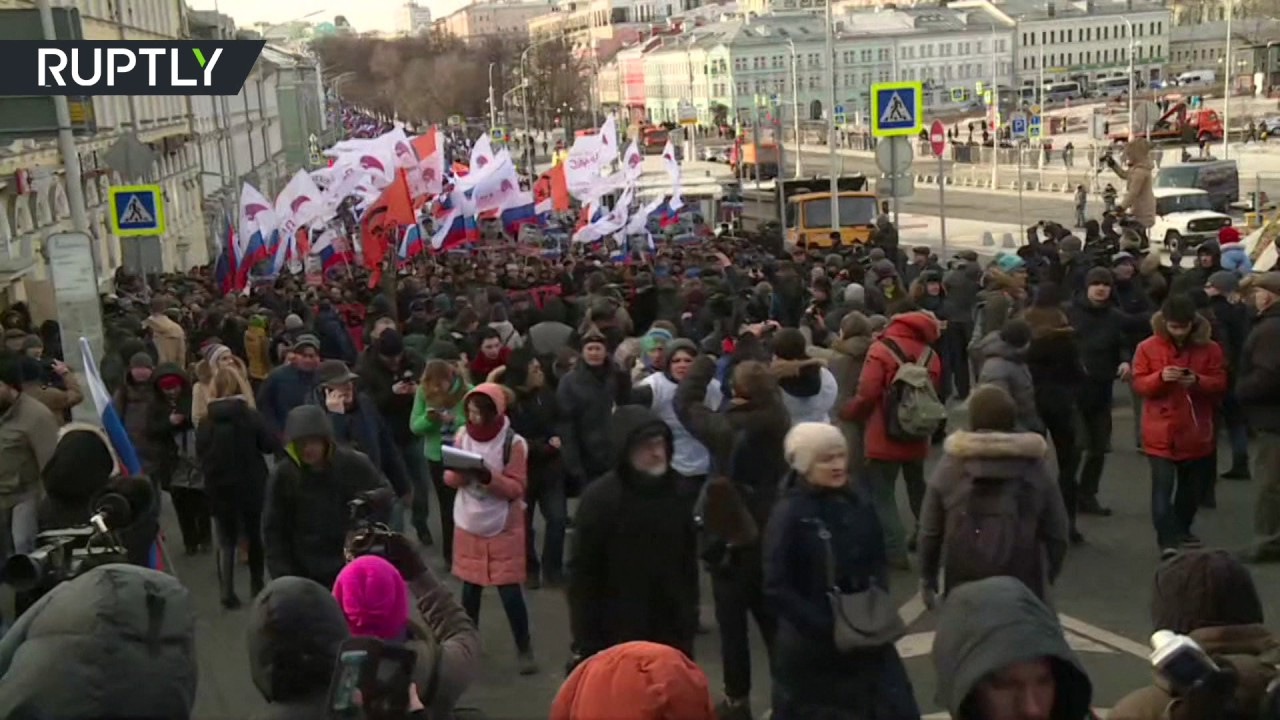 В Москве прошёл марш памяти Бориса Немцова