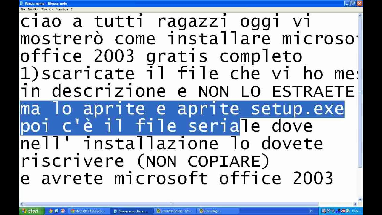 pacchetto microsoft office 2003 gratis