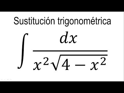 Integrales por sustitución trigonométrica | Ejemplo 3