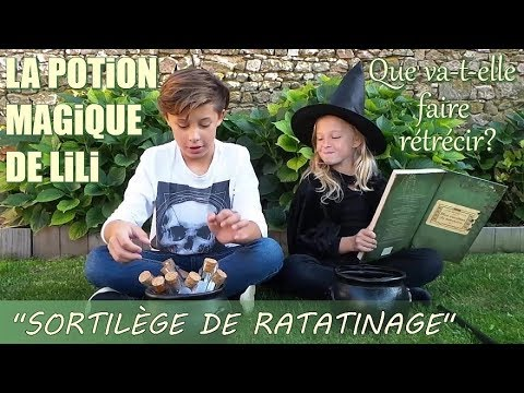 "LA POTION MAGIQUE DE LILI ""Sortilège de ratatinage"""