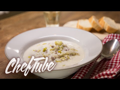 How To Make Cheese And Leek Soup With Minced Meat - Recipe In Description