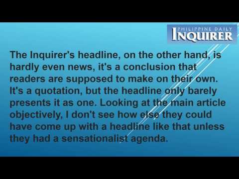 Media Bias And The Philippine Daily Inquirer