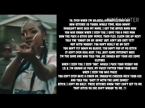Rocky Badd - Vindictive (Lyrics) MOLLY BRAZY DISS