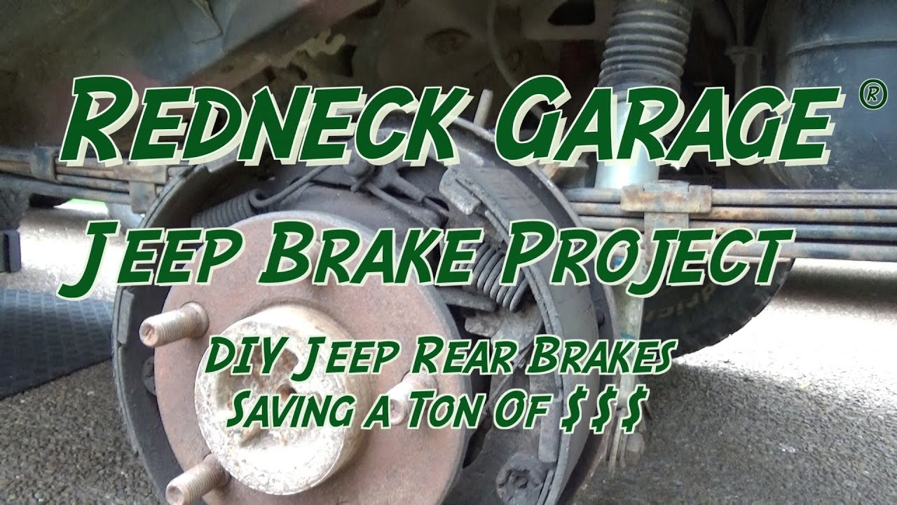 Jeep Wrangler and Most Jeep Rear Drum Brakes DIY With Will