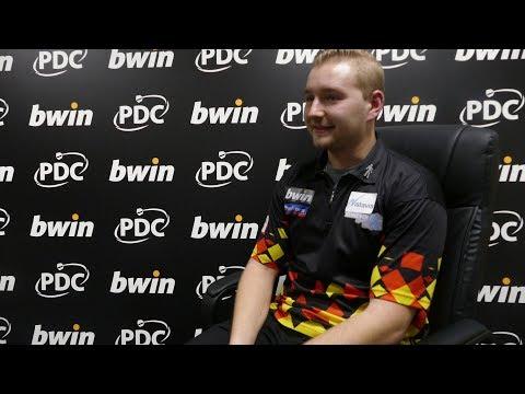 Dimitri van den Bergh 'over the moon' with 9 darter is Grand Slam of Darts