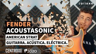 Fender ACOUSTASONIC American Strat (3-SB) - Guitarra Eléctrica / Acústica | EGITANA.pt