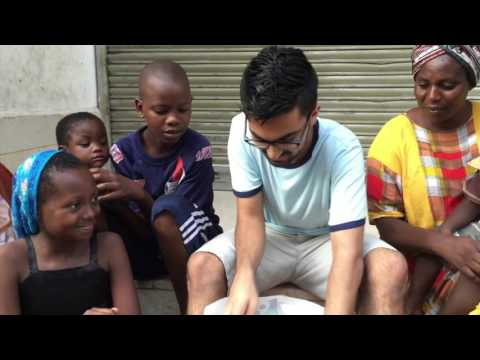 Giving Gifts to Homeless Street Kids for Christmas and New Years