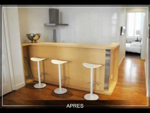 changement de look d 39 une cuisine l 39 am ricaine youtube. Black Bedroom Furniture Sets. Home Design Ideas