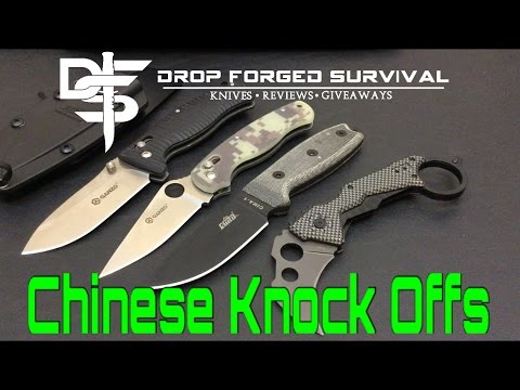 Chinese Knockoff EDC Knives - Mimics - Fakes - Every Day Carry