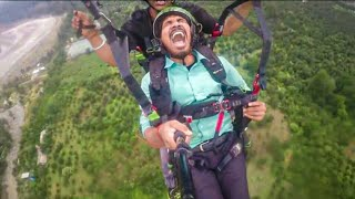 Paragliding Funny video in Manali | Paragliding Funny video