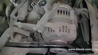 Вибрация привода ремня генератора из-за заклинившего шкива генератора