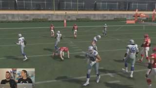 Madden 17 - How To Slide With QB? NOT DIVE!