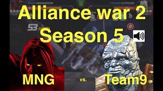 MCOC AW Season 5 : MNG vs. Team9 : Path 7 + mini boss + Korg special