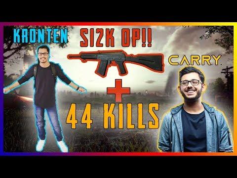 PUBG MOBILE | CARRYMINATI + KRONTEN 44 KILLS | CARRYMINATI FUNNY GAMEPLAY | S12K OVERPOWERED