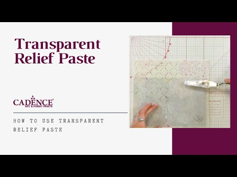 How to Use Transparent Relief Paste