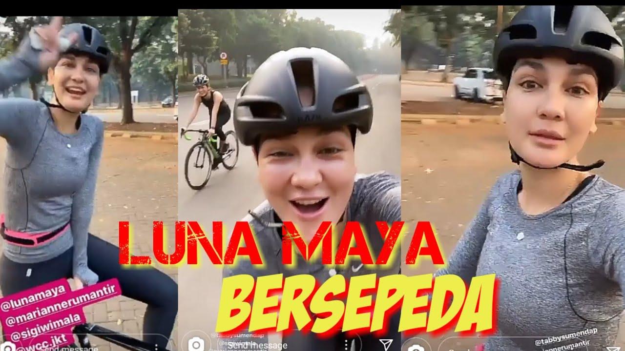 Luna Maya Ikut Trend Bersepeda Keren Youtube